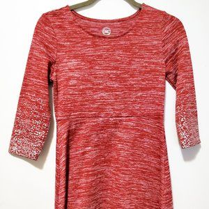 Wonder Nation Girls Dress Red with Silver